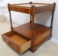 Yew Two Tier Lamp Stand